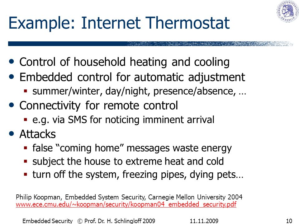 Example: Internet Thermostat