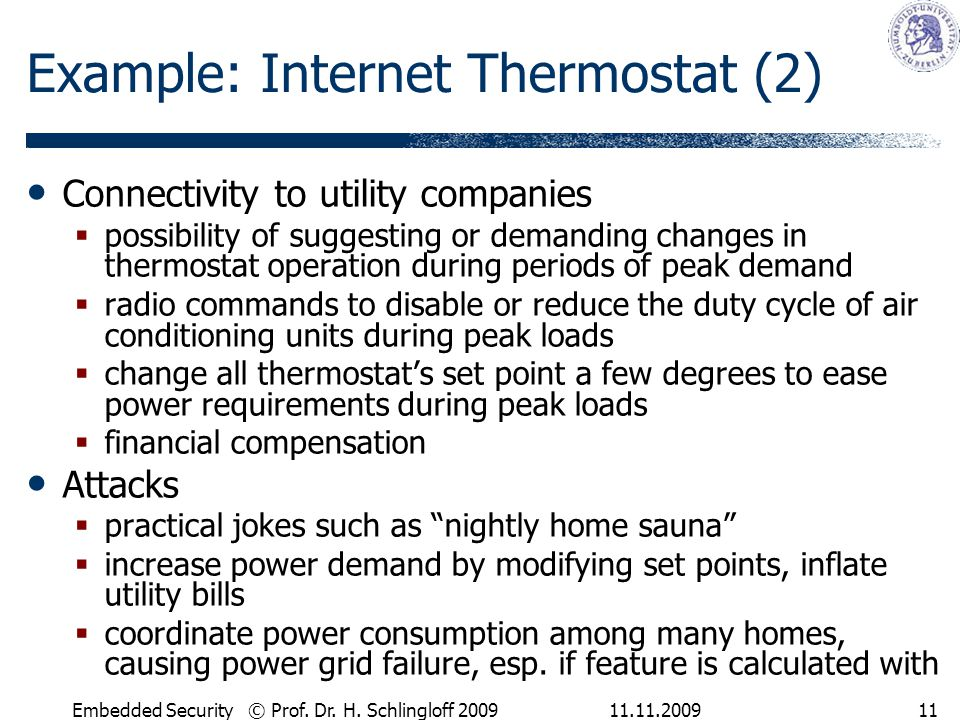 Example: Internet Thermostat (2)