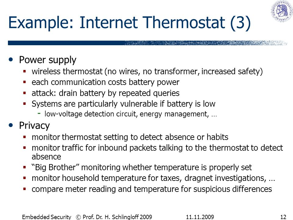 Example: Internet Thermostat (3)