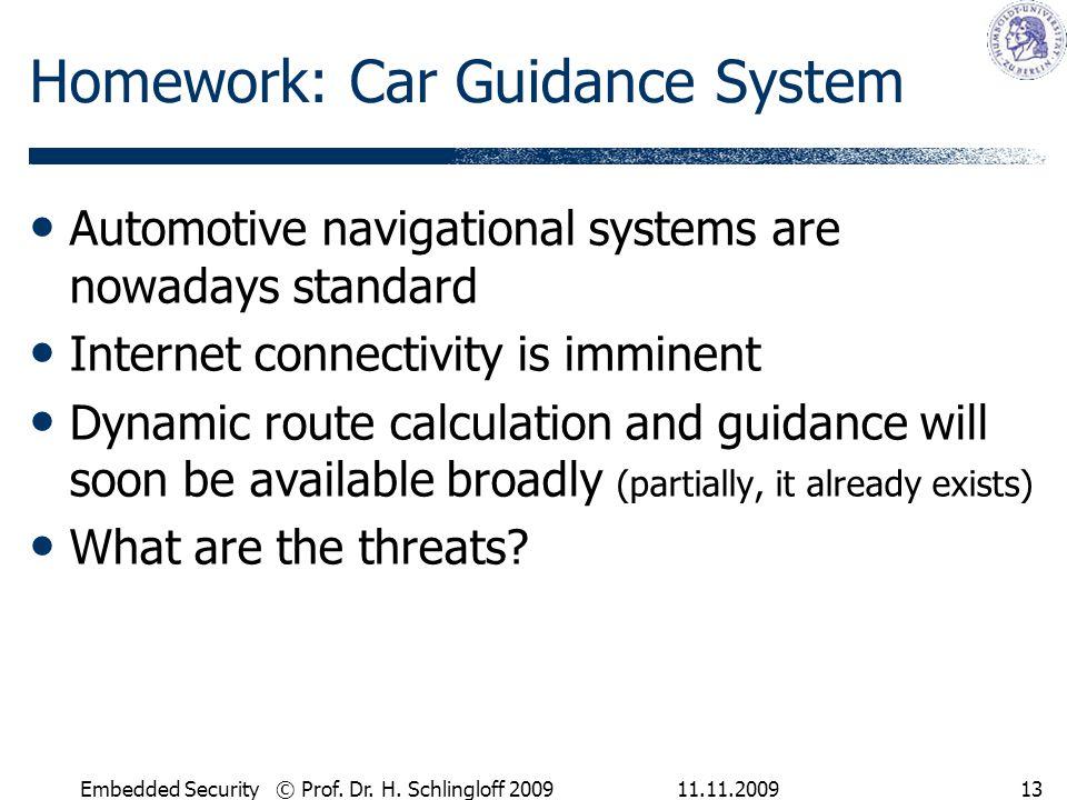 Homework: Car Guidance System