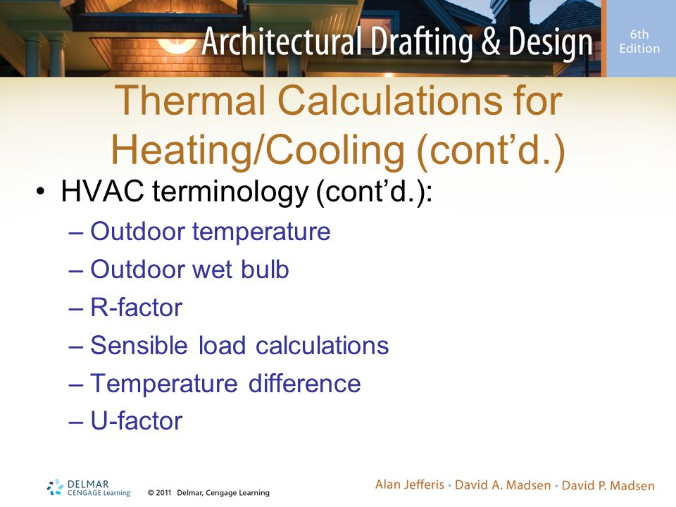 Thermal Calculations for Heating/Cooling (cont'd.)