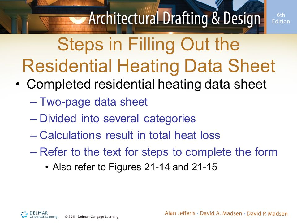 Steps in Filling Out the Residential Heating Data Sheet