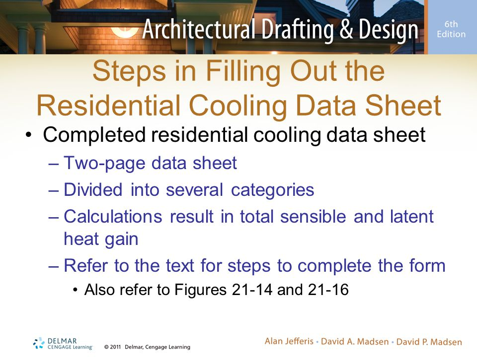 Steps in Filling Out the Residential Cooling Data Sheet
