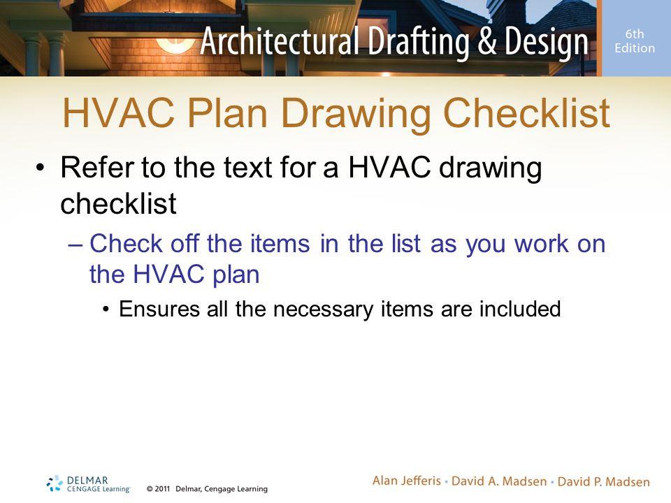 HVAC Plan Drawing Checklist