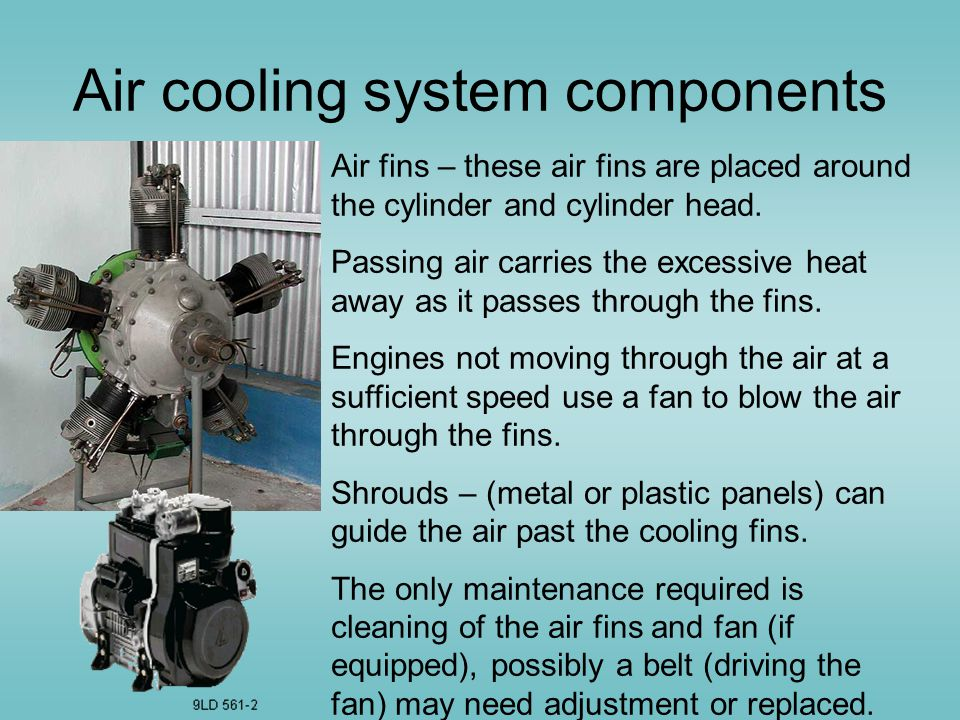 Air cooling system components