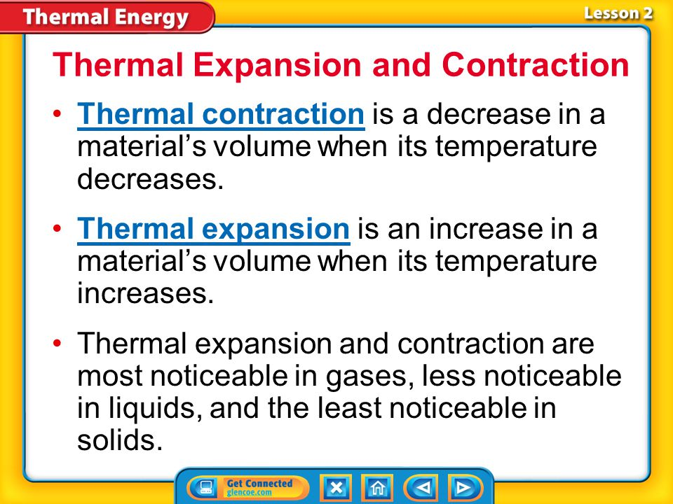 Thermal Expansion and Contraction