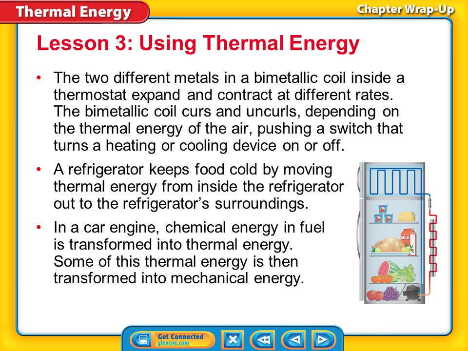 Lesson 3: Using Thermal Energy