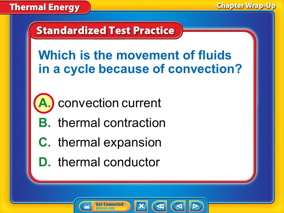 Which is the movement of fluids in a cycle because of convection