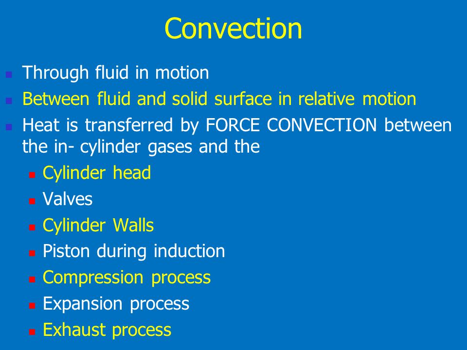 Convection Through fluid in motion