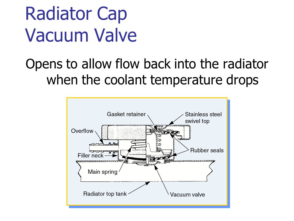 Radiator Cap Vacuum Valve