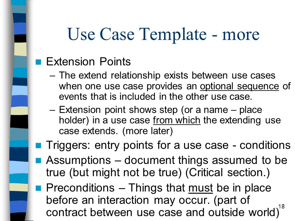Use Case Template - more