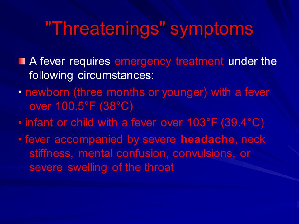 Threatenings symptoms