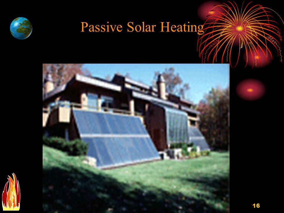 Passive Solar Heating EGEE 102