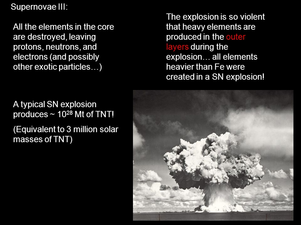 Supernovae III: