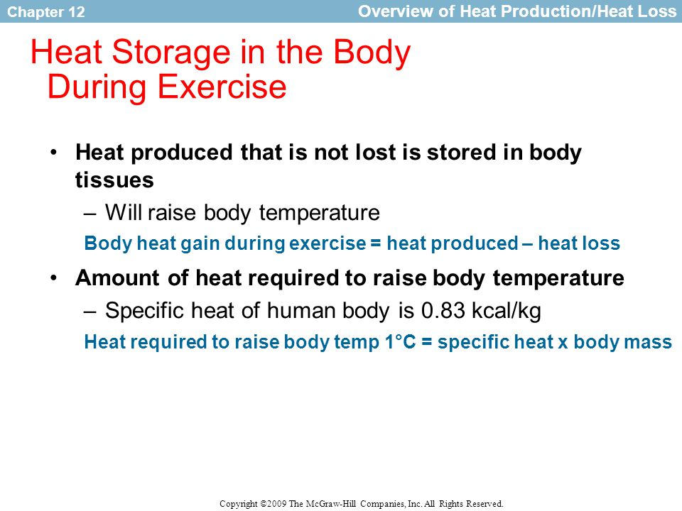 Heat Storage in the Body During Exercise