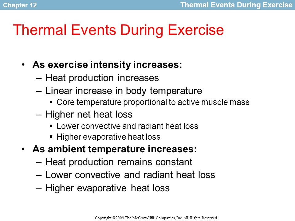 Thermal Events During Exercise