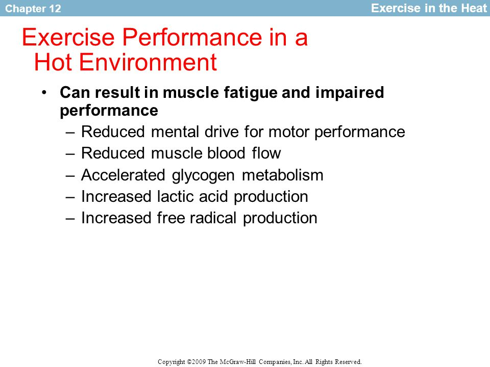 Exercise Performance in a Hot Environment