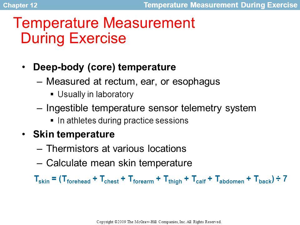 Temperature Measurement During Exercise