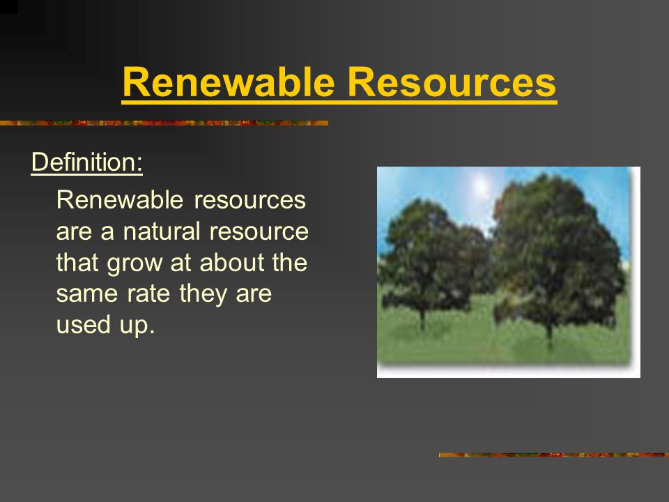 Limited Natural Resources Definition