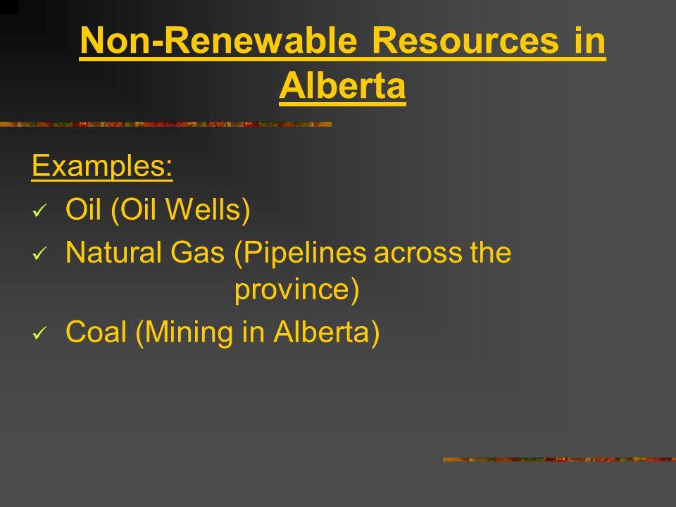 Non-Renewable Resources in Alberta