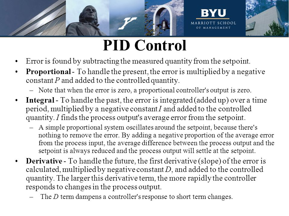 PID Control Error is found by subtracting the measured quantity from the setpoint.