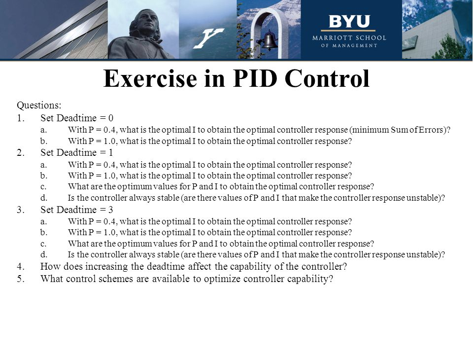 Exercise in PID Control