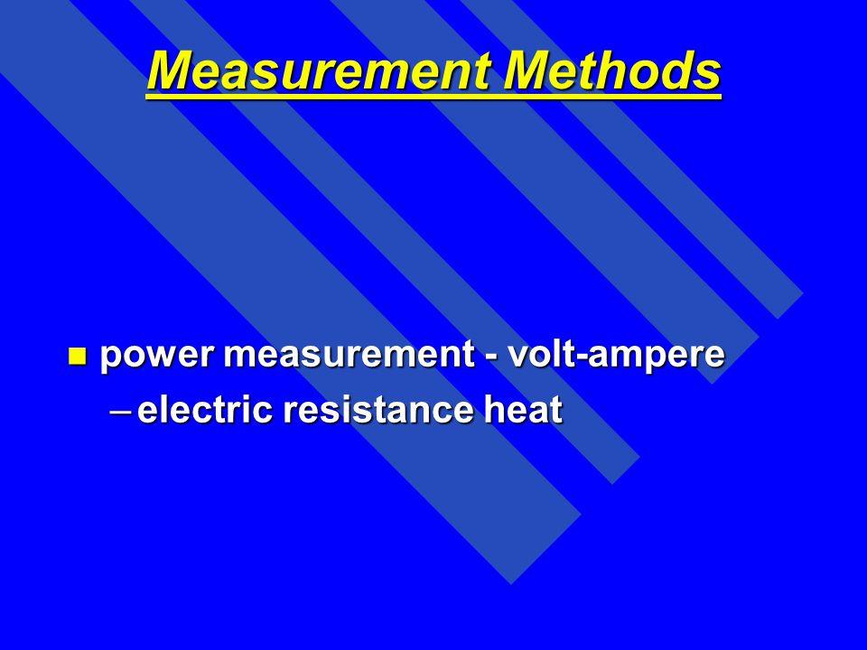 Measurement Methods power measurement - volt-ampere