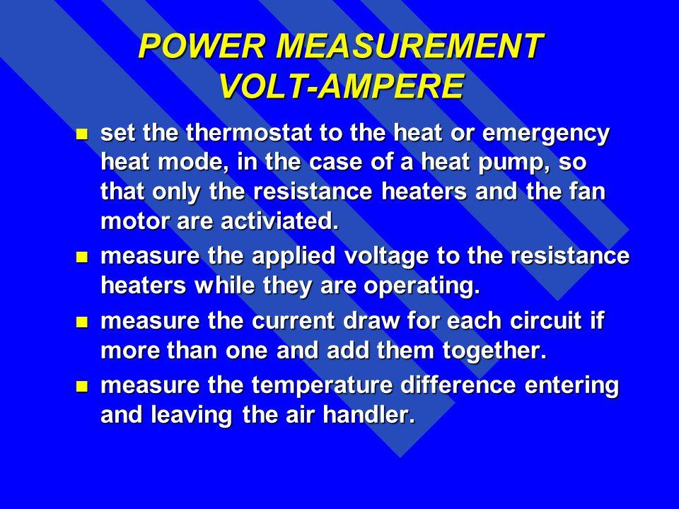 POWER MEASUREMENT VOLT-AMPERE