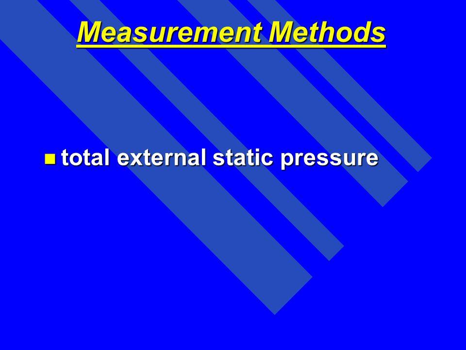 Measurement Methods total external static pressure