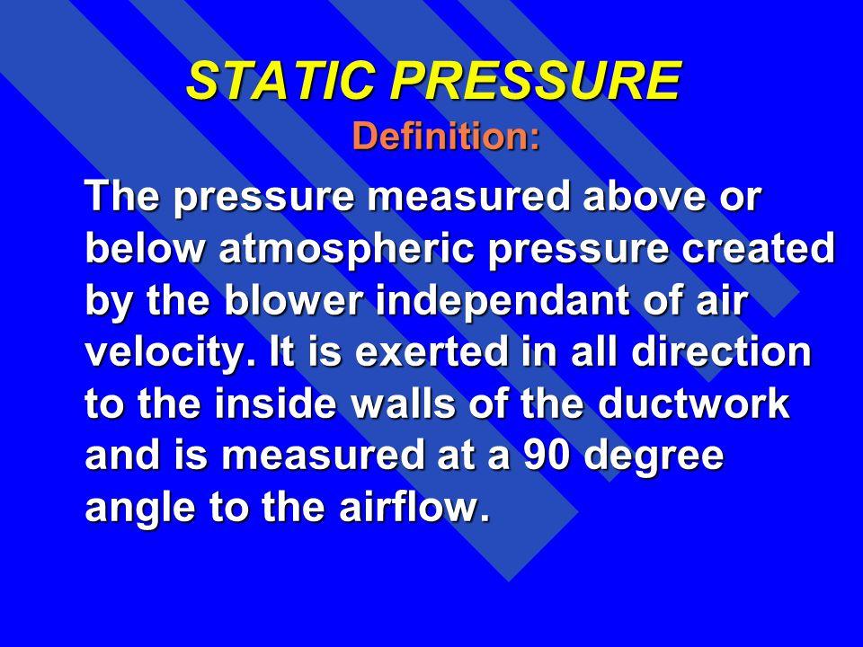 STATIC PRESSURE Definition: