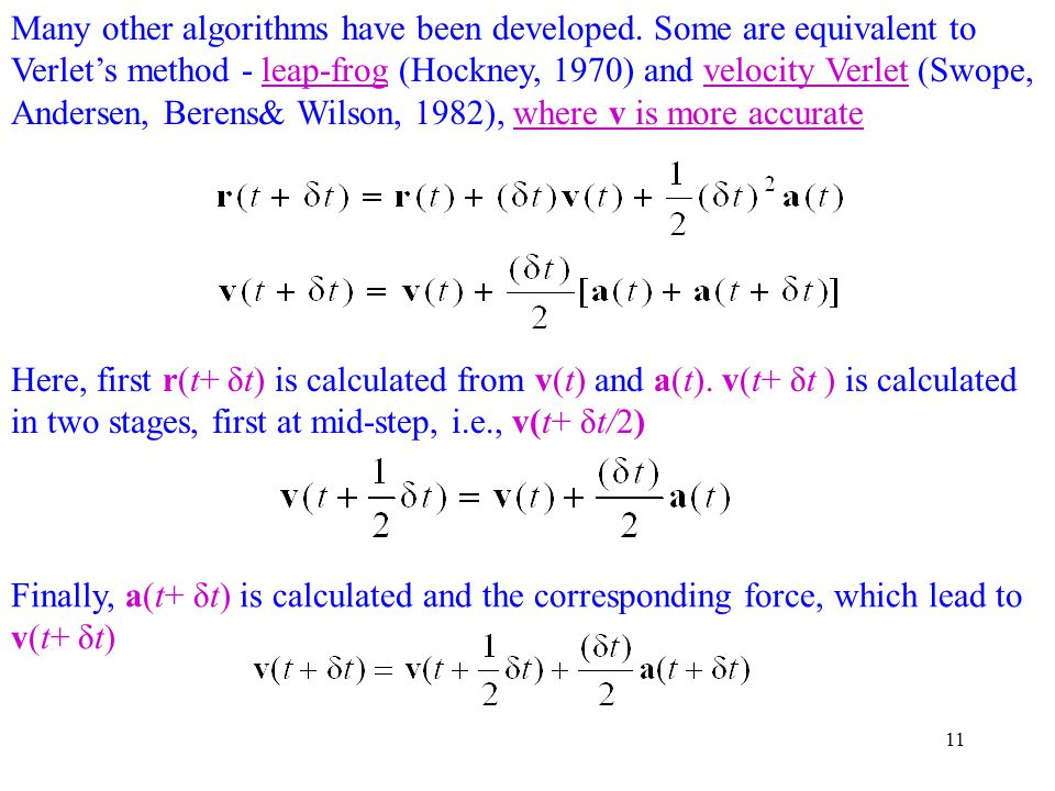 Many other algorithms have been developed