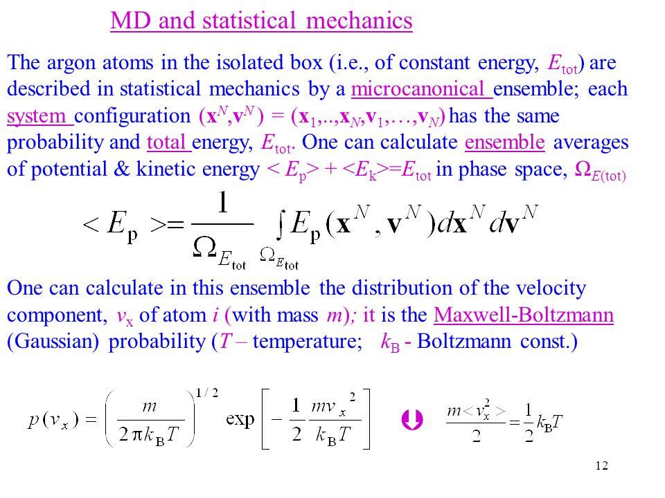  MD and statistical mechanics