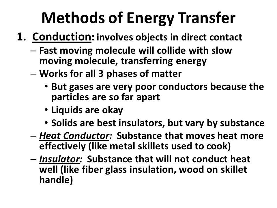 Methods of Energy Transfer