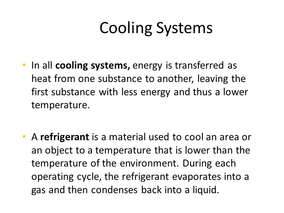 Cooling Systems Chapter 13