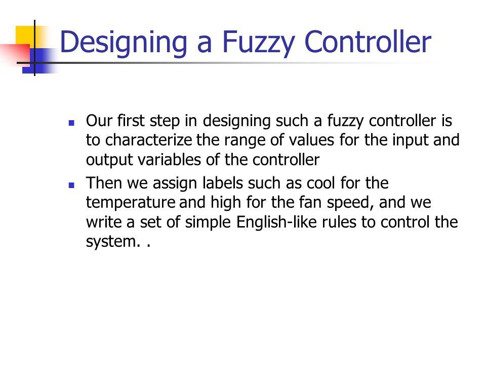 Designing a Fuzzy Controller