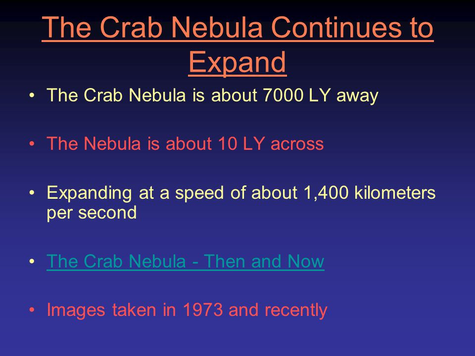 The Crab Nebula Continues to Expand