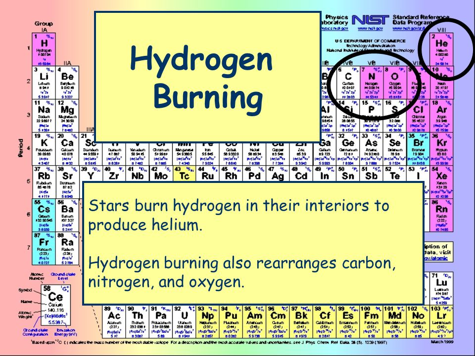 Hydrogen Burning Stars burn hydrogen in their interiors to