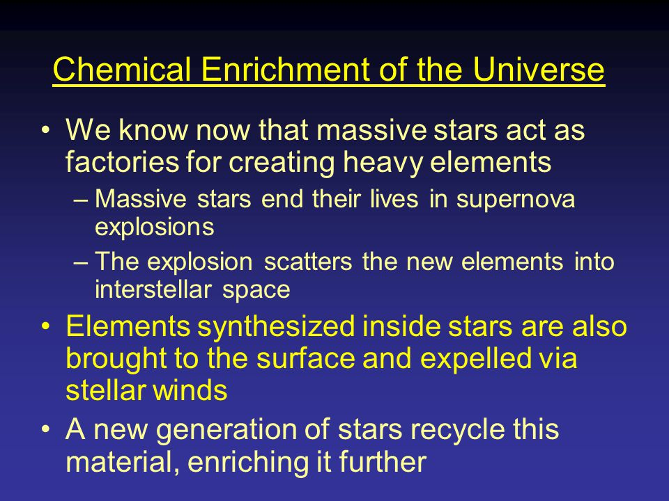 Chemical Enrichment of the Universe
