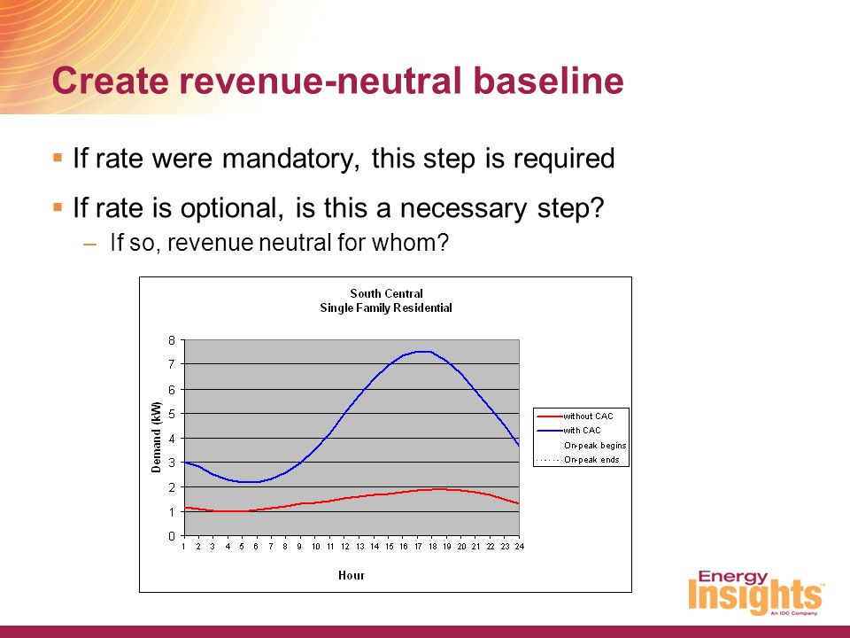 Create revenue-neutral baseline