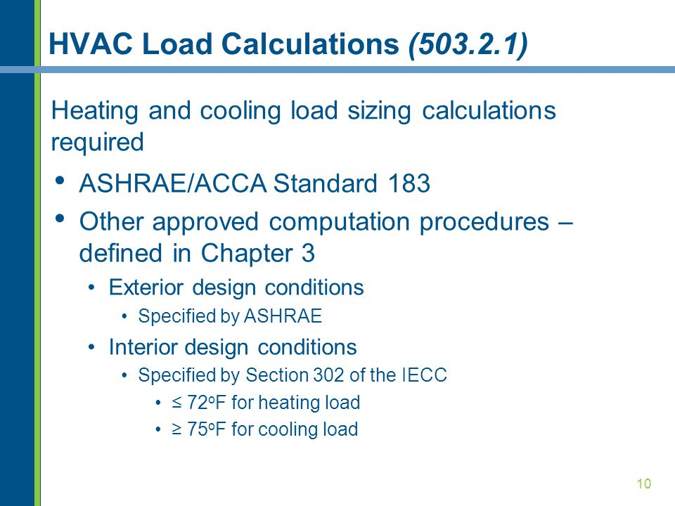 Commercial mechanical requirements ppt video online download for Indoor design conditions ashrae