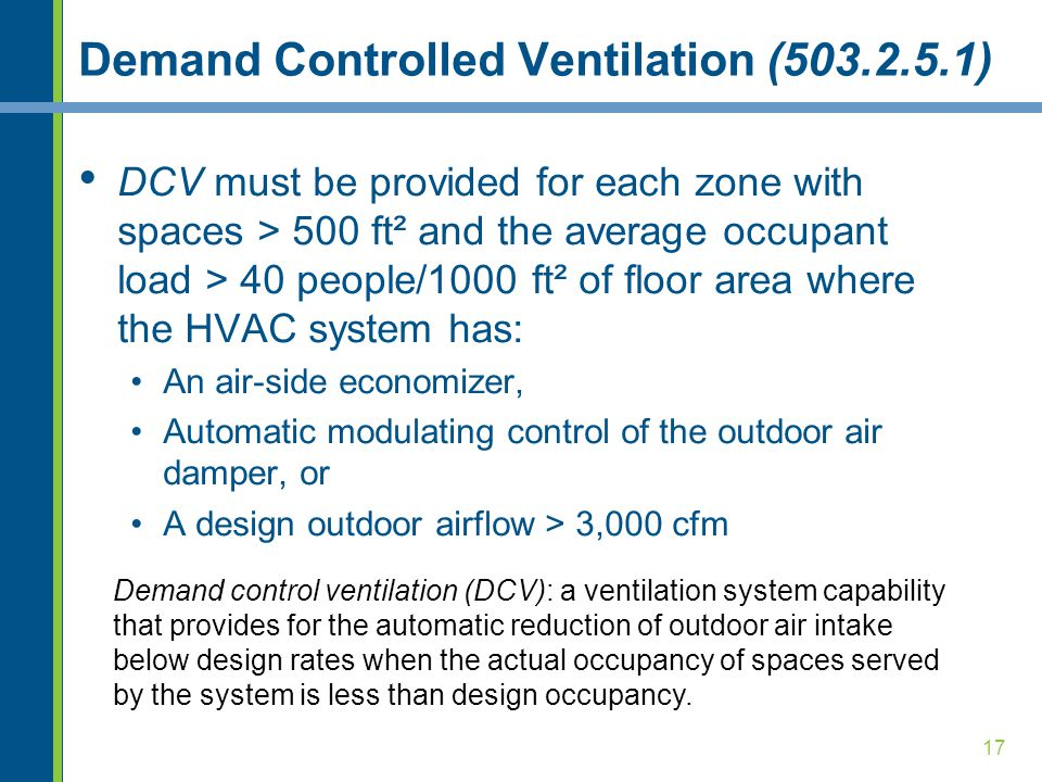 Demand Controlled Ventilation (503.2.5.1)