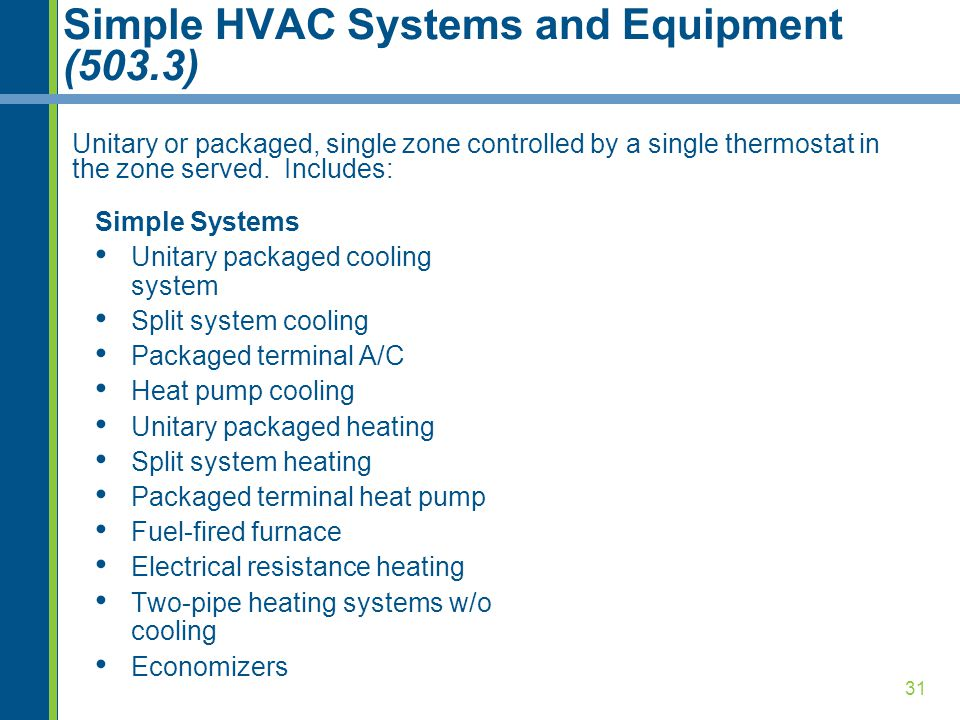 Simple HVAC Systems and Equipment (503.3)