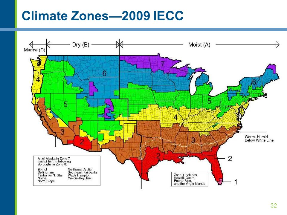 Climate Zones—2009 IECC Unchanged from the 2006 IECC.