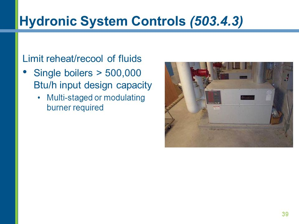 Hydronic System Controls (503.4.3)