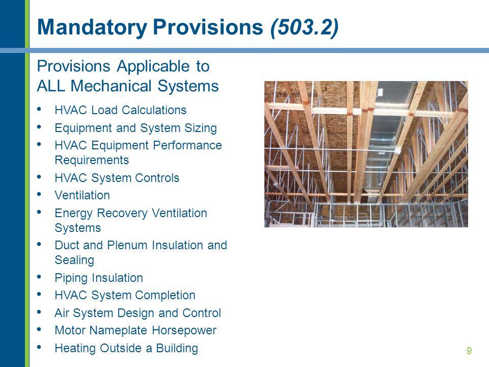 Mandatory Provisions (503.2)