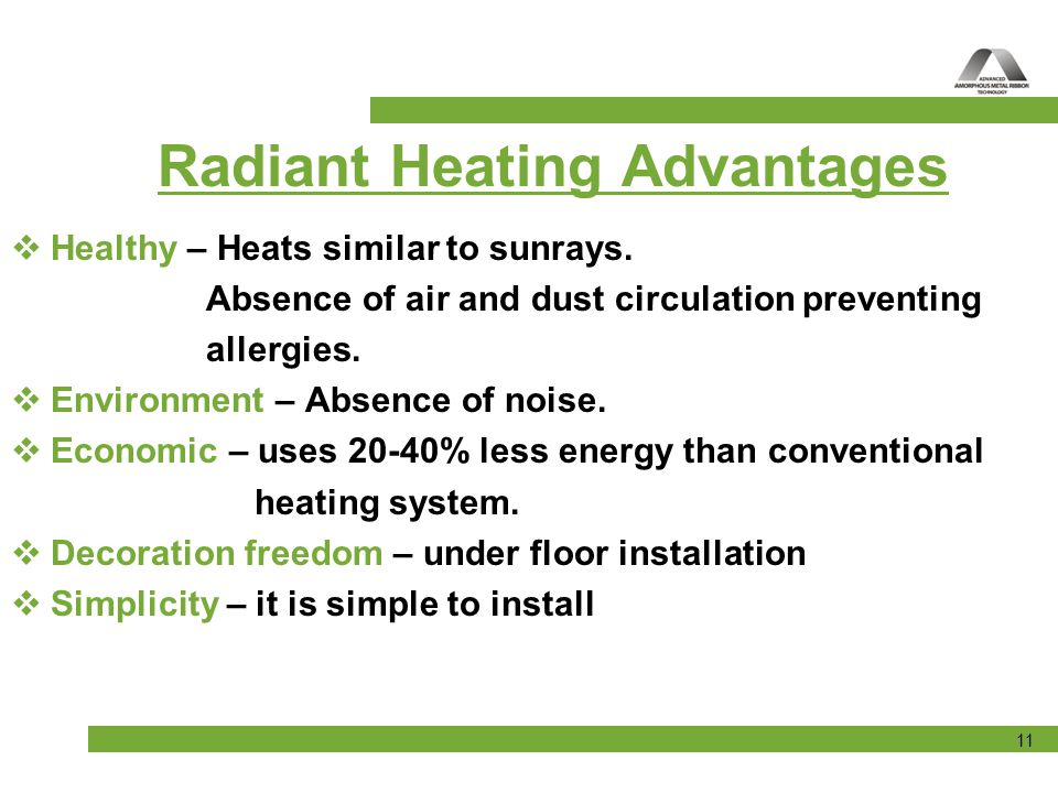 Radiant Heating Advantages