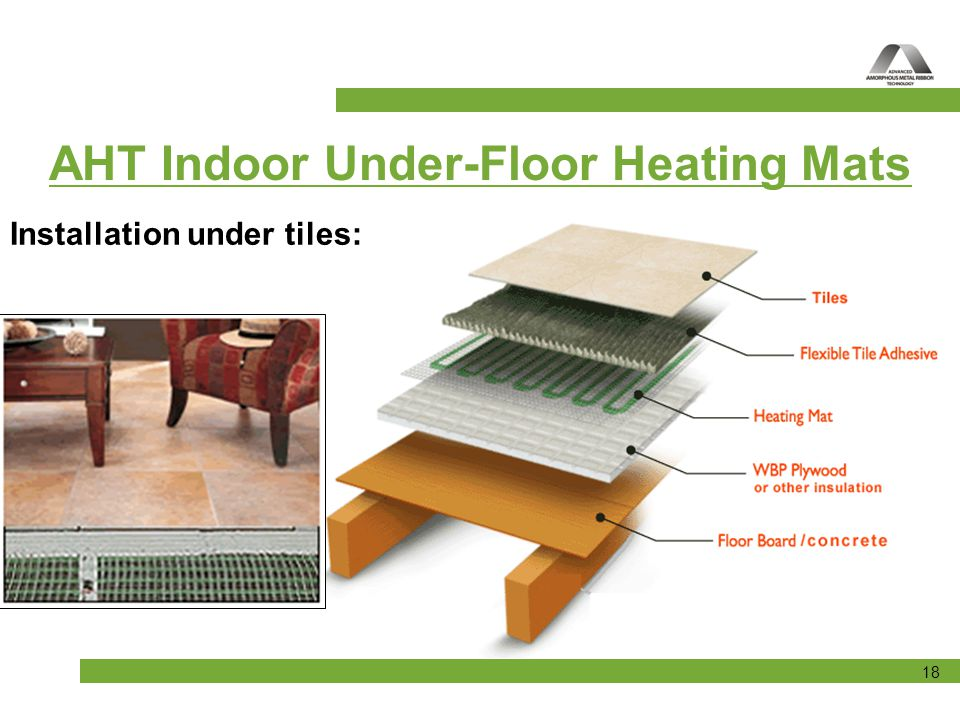 Tiling a floor with underfloor heating