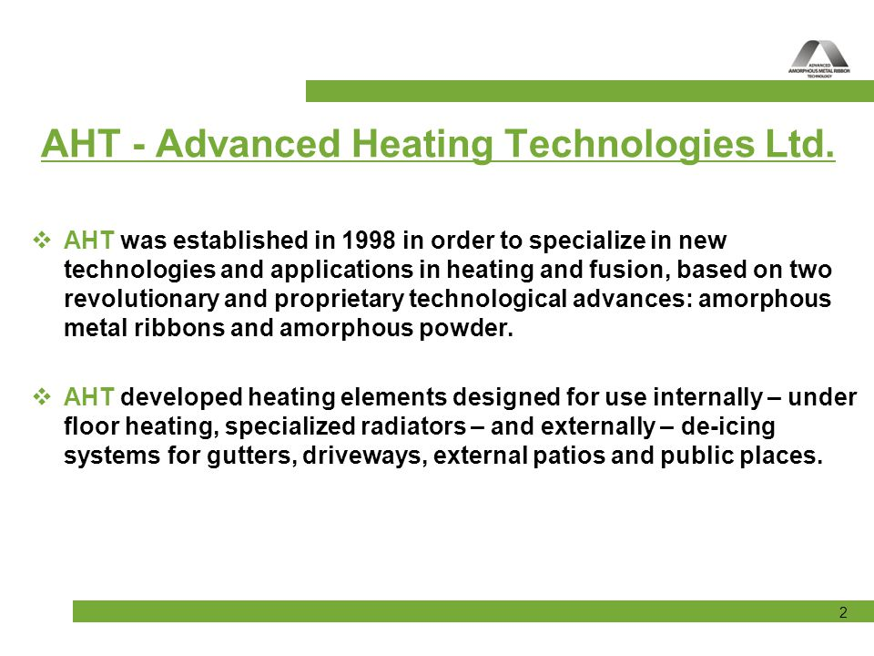 AHT - Advanced Heating Technologies Ltd.