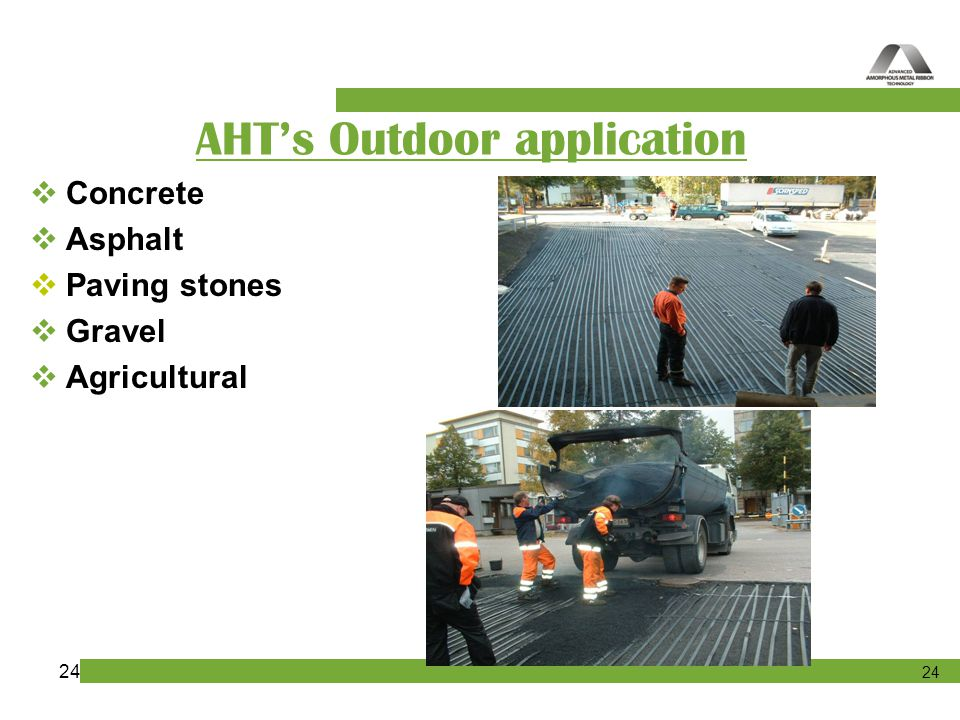 AHT's Outdoor application