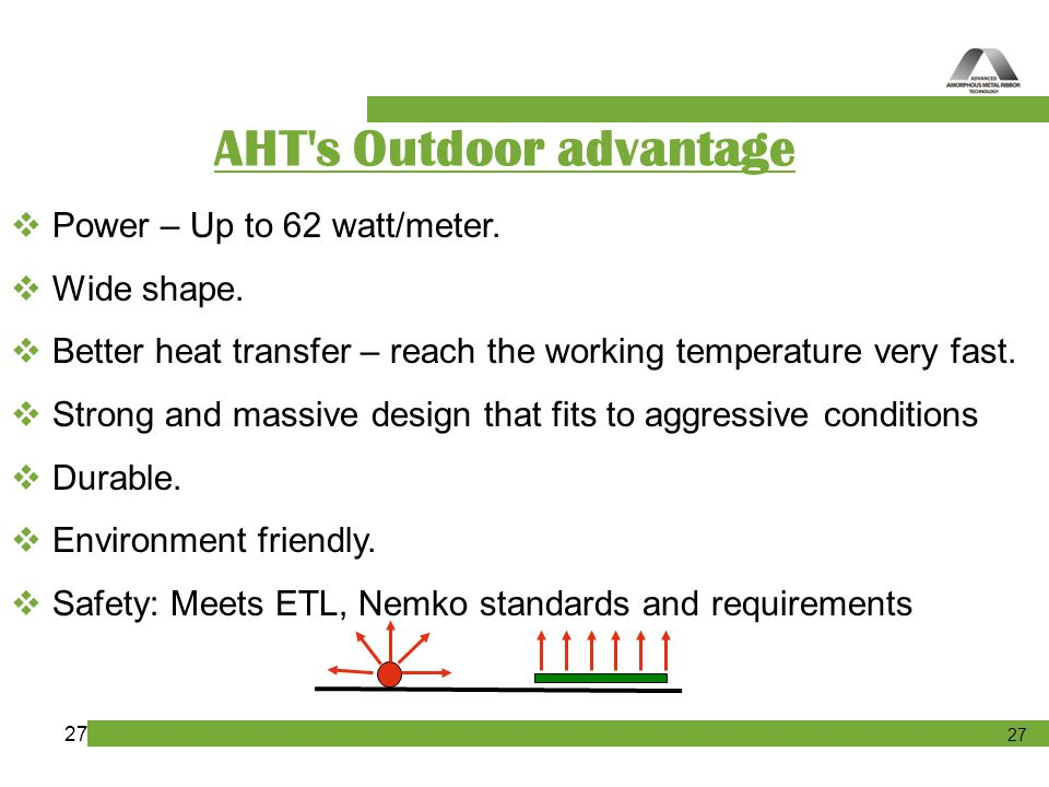 AHT s Outdoor advantage